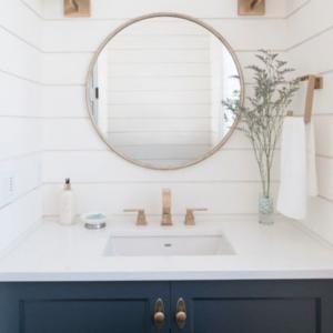 bathroom wainscoting idea